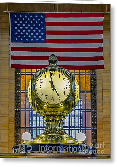 Clocks Greeting Cards - Precious Time and Colors Greeting Card by Susan Candelario