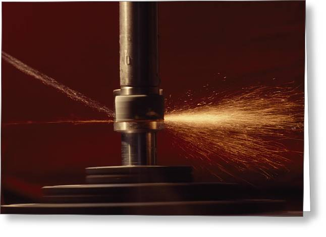 Middle Atlantic States Greeting Cards - Precision Machine Work Greeting Card by Lynn Johnson