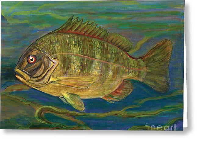 Predatory Fish Greeting Card by Anna Folkartanna Maciejewska-Dyba