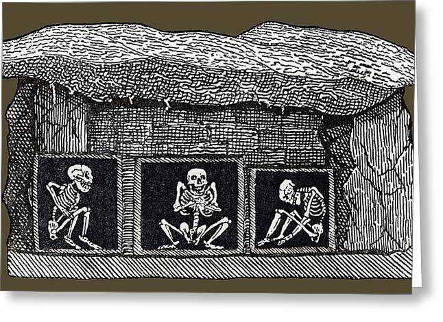 European Artwork Greeting Cards - Prehistoric Tomb, Sweden Greeting Card by Sheila Terry