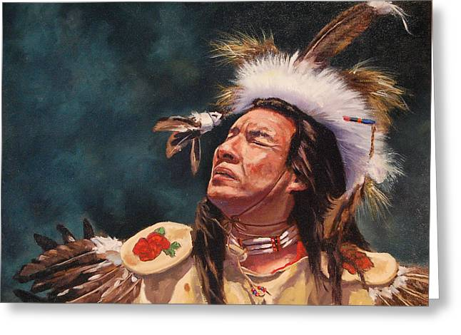 Wow Paintings Greeting Cards - Prelude to the Sundance Greeting Card by J P Childress