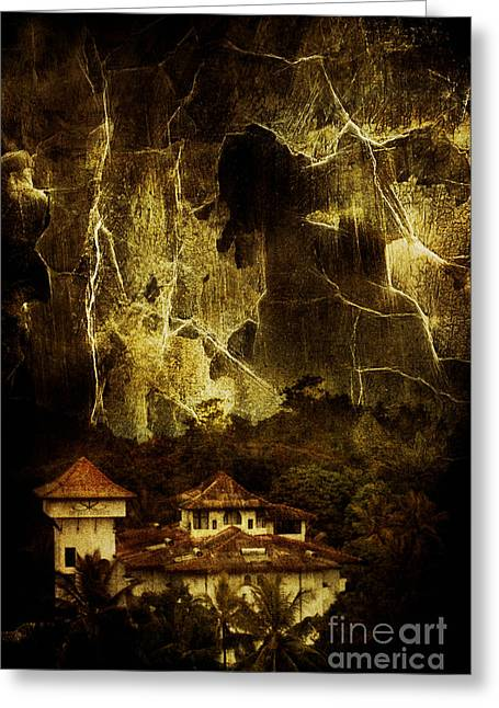 Scary Houses Greeting Cards - Premonitions Greeting Card by Andrew Paranavitana