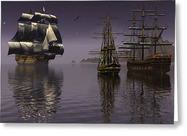 Mccoy Greeting Cards - Prepare to drop anchor Greeting Card by Claude McCoy