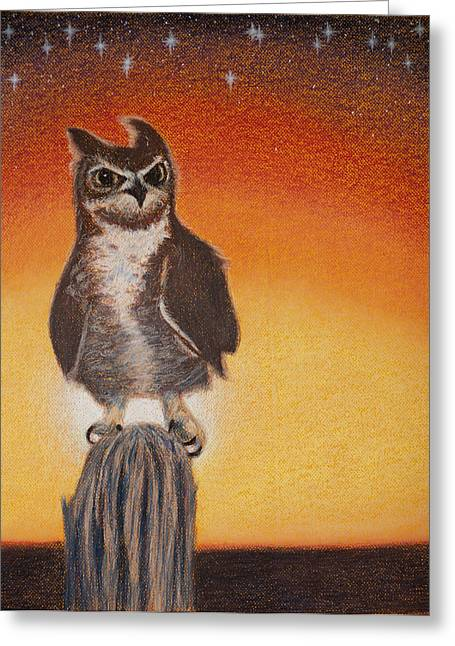 Great Birds Pastels Greeting Cards - Preparing for the Hunt Greeting Card by Thomas Maynard