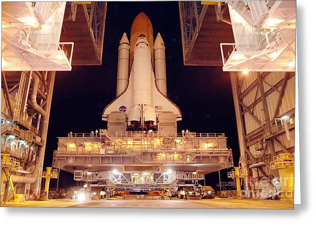 21st Greeting Cards - Preparing Return To Flight Mission Greeting Card by NASA / Kennedy Space Center