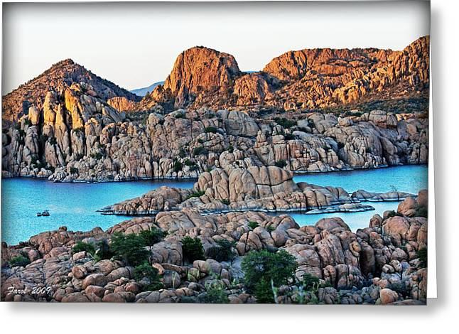Watson Lake Greeting Cards - Prescott Arizona Greeting Card by Farol Tomson