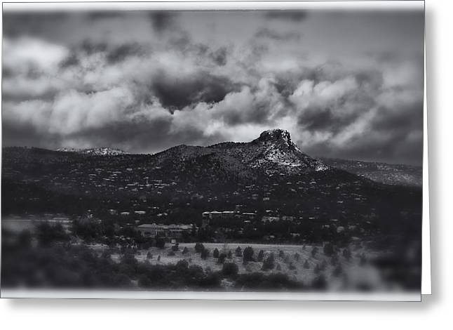 Prescott Greeting Cards - Prescott AZ Snowday Greeting Card by James Bethanis