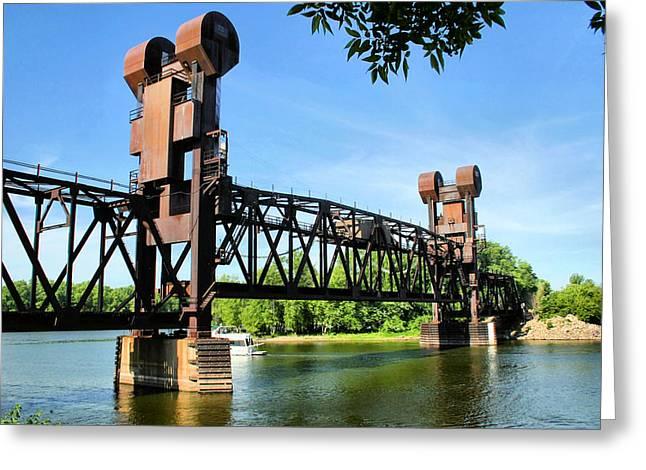 Prescott Greeting Cards - Prescott Lift Bridge Greeting Card by Kristin Elmquist