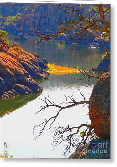 Watson Lake Photographs Greeting Cards - Prescott Greeting Card by Robert Hooper