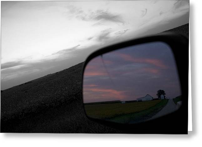 Gravel Road Greeting Cards - Present Hindsight Greeting Card by Dylan Punke