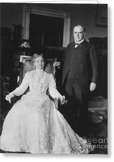 First-lady Greeting Cards - President & Mrs. Mckinley Greeting Card by Granger