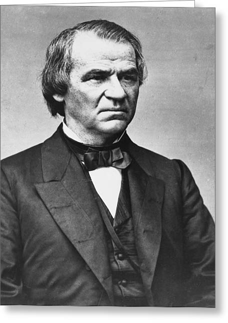 American Politician Greeting Cards - President Andrew Johnson Greeting Card by International  Images