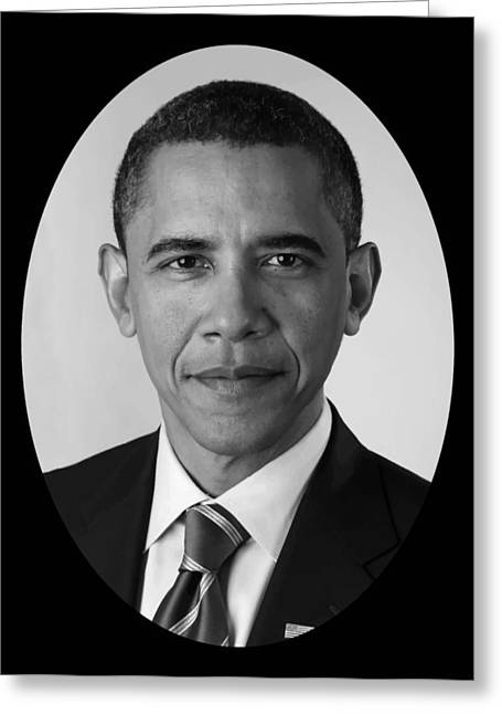 President Obama Digital Art Greeting Cards - President Barack Obama Greeting Card by War Is Hell Store