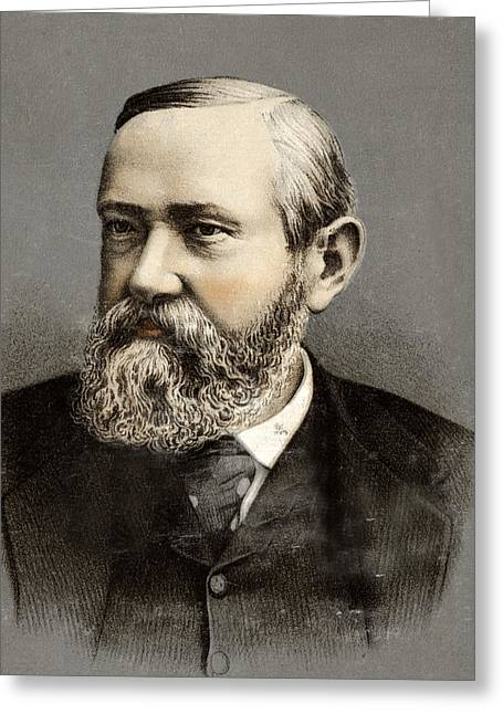 American Politician Greeting Cards - President Benjamin Harrison Greeting Card by International  Images