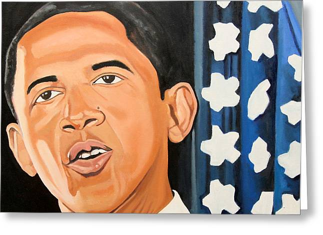 President Obama Greeting Cards - President Elect Obama Greeting Card by Patrick Hunt