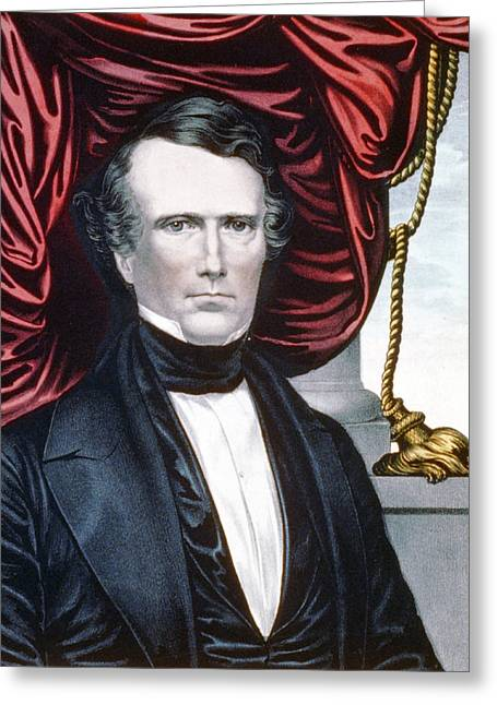 President Of America Greeting Cards - President Franklin Pierce Greeting Card by International  Images