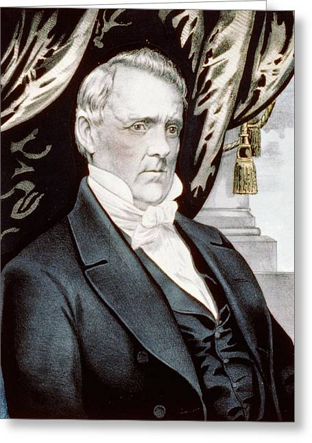 President Of America Greeting Cards - President James Buchanan Greeting Card by International  Images