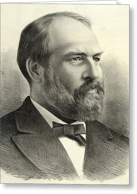 American Politician Greeting Cards - President James Garfield Greeting Card by International  Images