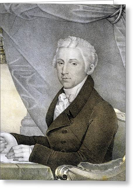 American Politician Greeting Cards - President James Monroe Greeting Card by International  Images