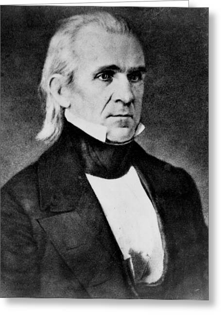 American Politician Greeting Cards - President James Polk Greeting Card by International  Images