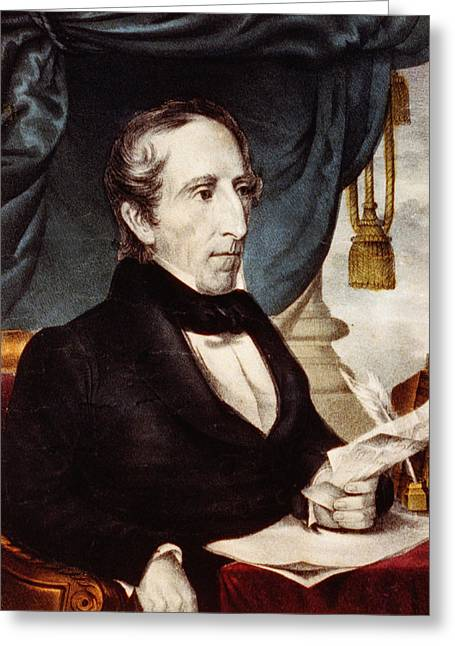 American Politician Greeting Cards - President John Tyler - tenth President of the United States Greeting Card by International  Images