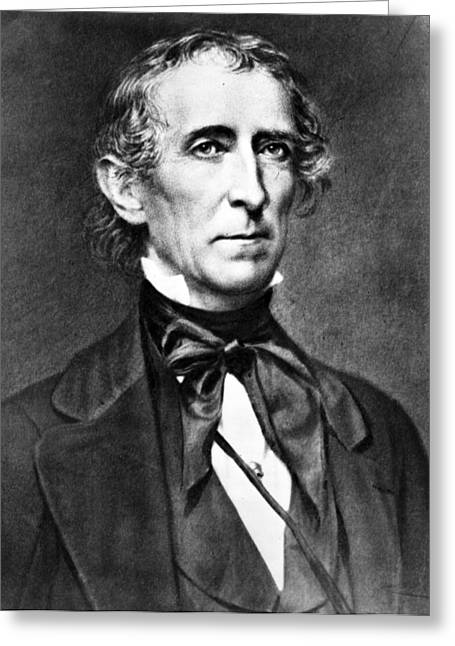 American Politician Greeting Cards - President John Tyler Greeting Card by International  Images