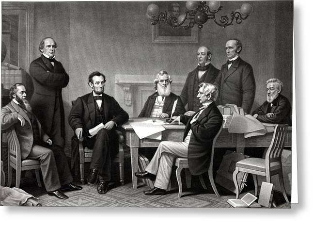 President Lincoln and His Cabinet Greeting Card by War Is Hell Store