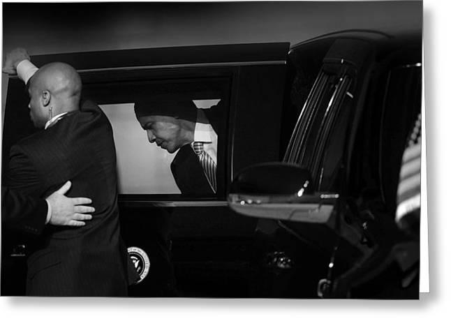 President Obama Photographs Greeting Cards - President Obama Ix Greeting Card by Rafa Rivas