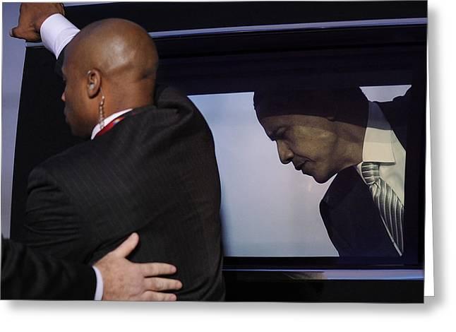 President Obama Photographs Greeting Cards - President Obama Vii Greeting Card by Rafa Rivas