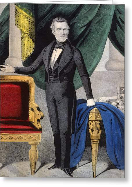 American Politician Greeting Cards - President of the United States of America - James K Polk  Greeting Card by International  Images