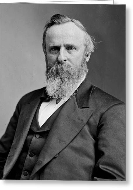 American Politician Greeting Cards - President Rutherford B Hayes Greeting Card by International  Images