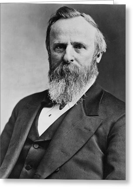 President Of America Greeting Cards - President Rutherford Hayes Greeting Card by International  Images