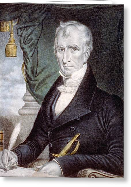 President Of America Greeting Cards - President William Henry Harrison Greeting Card by International  Images