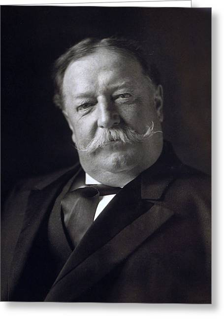 Taft Greeting Cards - President William Howard Taft Greeting Card by International  Images