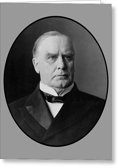Williams Digital Art Greeting Cards - President William McKinley  Greeting Card by War Is Hell Store