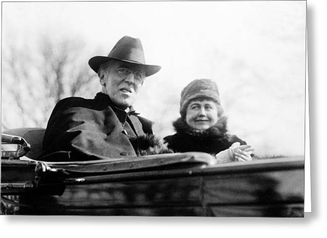 President Of America Greeting Cards - President Woodrow Wilson Greeting Card by International  Images
