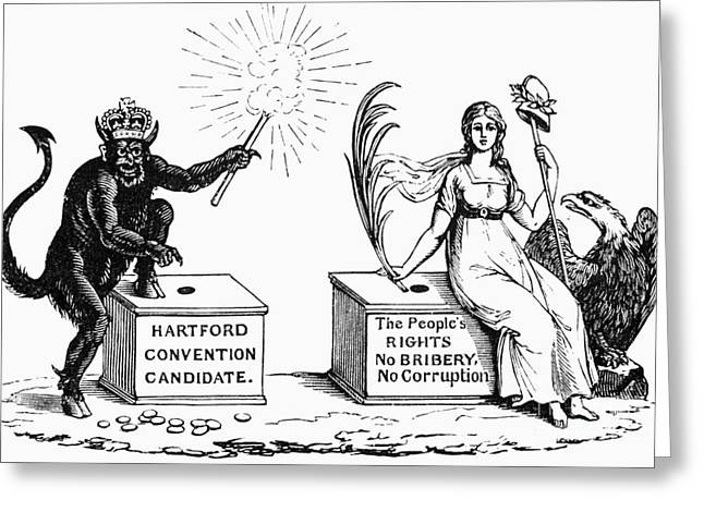 Democratic Republican Greeting Cards - Presidential Campaign, 1816 Greeting Card by Granger