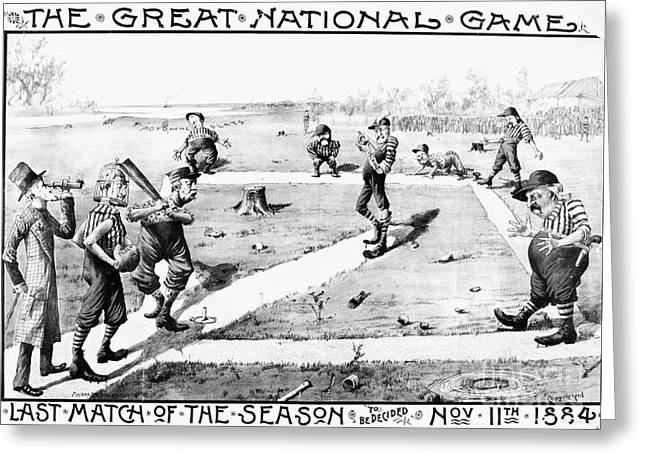 Washington Dc Baseball Greeting Cards - Presidential Campaign, 1884 Greeting Card by Granger