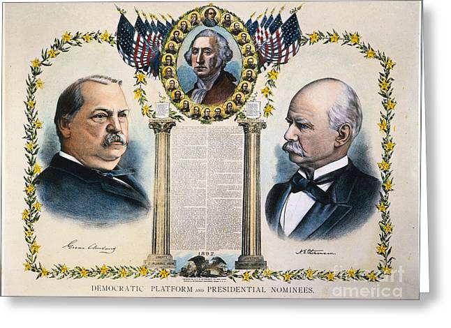 Adlai Greeting Cards - Presidential Campaign, 1892 Greeting Card by Granger