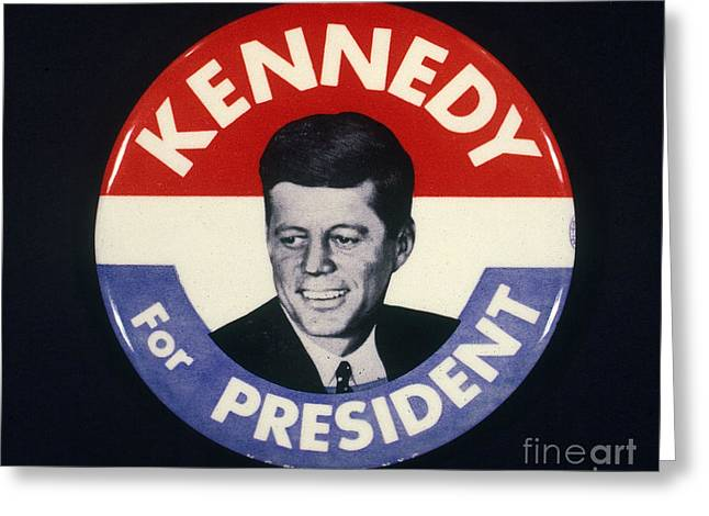 1960 Greeting Cards - Presidential Campaign, 1960 Greeting Card by Granger