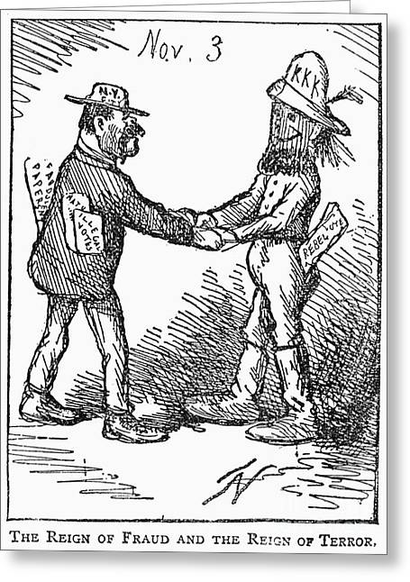Terrorist Greeting Cards - Presidential Election, 1868 Greeting Card by Granger