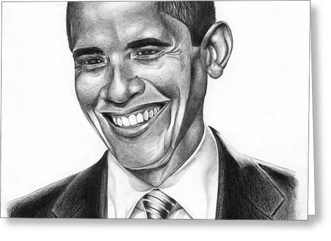 Presidential Smile Greeting Card by Jeff Stroman