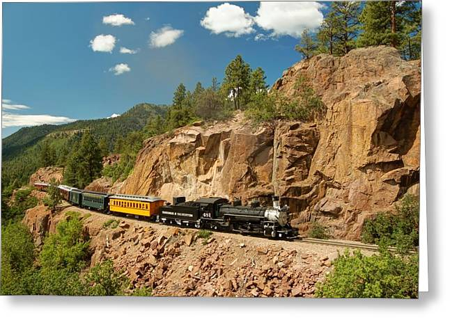 Narrow Gauge Steam Train Greeting Cards - Presidential Special Greeting Card by Ken Smith