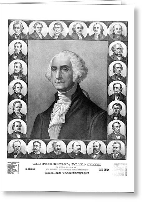 Madison Greeting Cards - Presidents of The United States 1789-1889 Greeting Card by War Is Hell Store