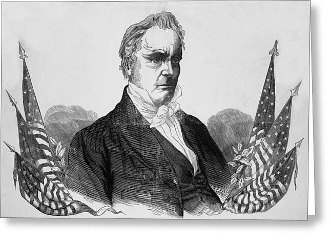 American Politician Greeting Cards - Presidnet of the United States - James Buchanan  Greeting Card by International  Images