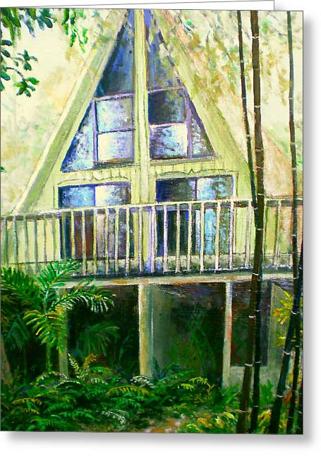 Bamboo House Greeting Cards - Presley House Greeting Card by Lou Ann Bagnall