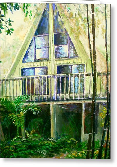 Presley House Greeting Card by Lou Ann Bagnall