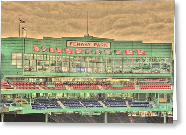 Press Box Greeting Cards - Press Box 2 Greeting Card by Jonathan Harper