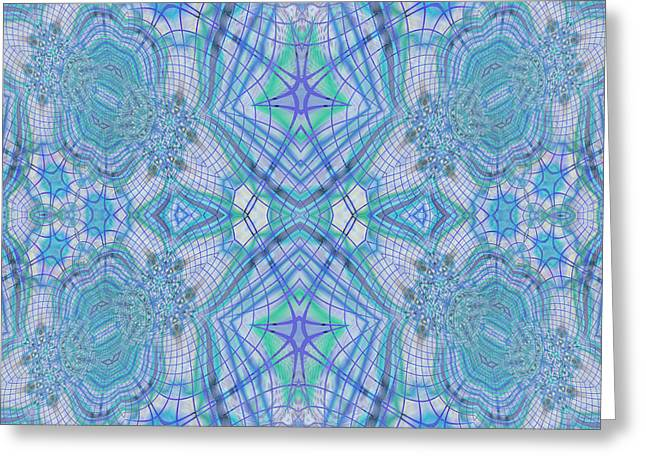 Mixed Media Greeting Cards - Pretty Blue Greeting Card by Georgiana Romanovna