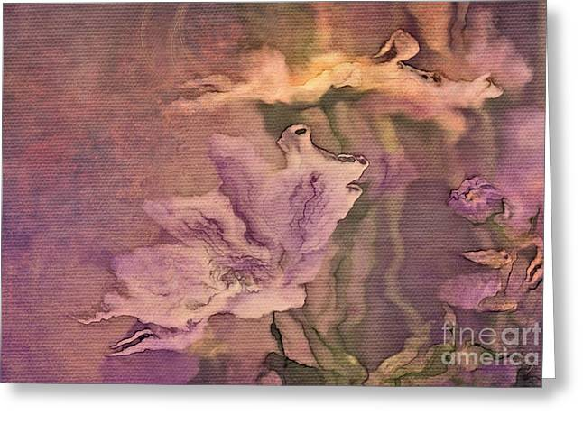 Lilac Digital Art Greeting Cards - Pretty Bouquet - a04t4b Greeting Card by Variance Collections